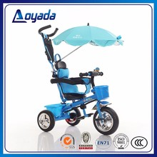 2017 Safety Push Along Baby Bike , High Quanlity Child Tricycles with Sunshade in China
