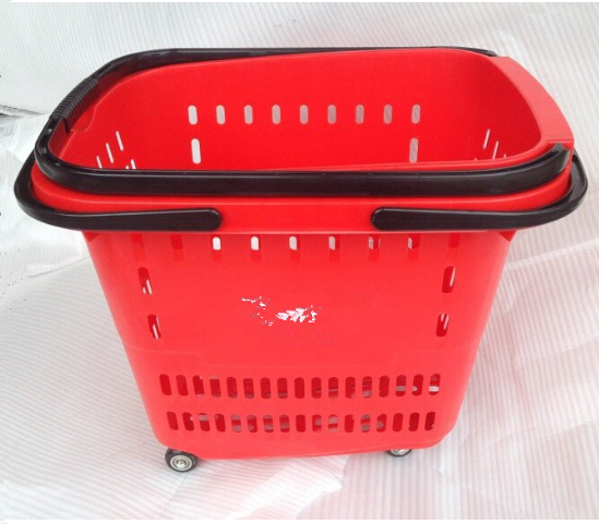 Best Selling plastic shopping baskets wholesale, shopping basket with wheels, hanging baskets