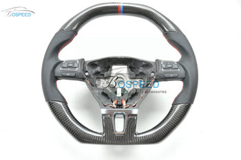 2017 most popular Carbon Fiber racing car steering wheel for VW Sagitar withsight line