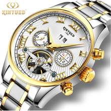 Multi Functions Automatic Mechanical Watch 30m Waterproof Stainless Steel Skeleton Watches men