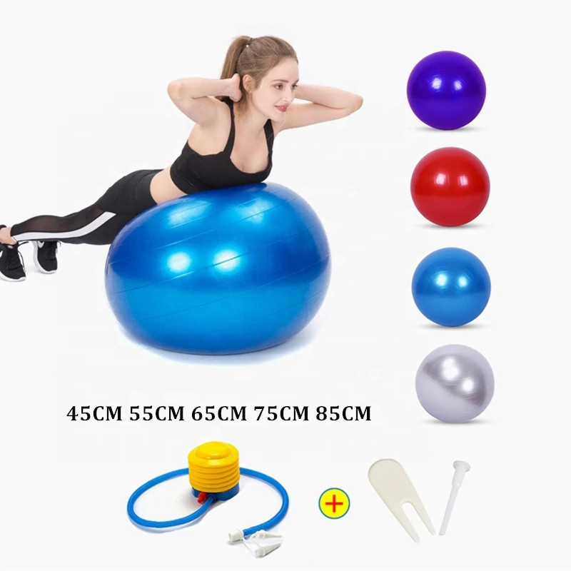 Exercise <strong>Ball</strong> Anti-burst Sports Balance Yoga <strong>Ball</strong> with Pump for Pilates Birthing Fitness