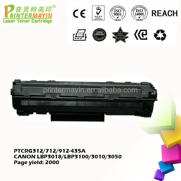 Compatible for Canon lbp3050 Toner Cartridge Cheap Cartridges for CANON LBP3018/LBP3100/3010/3050 (PTCRG312/712/ 912 -435A)