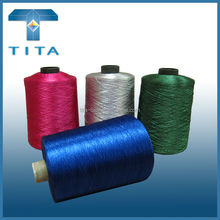 Popular wholesale 150D/2, 300D/2 reflective embroidery thread, silk thread for weaving, knitting from Hangzhou TITA