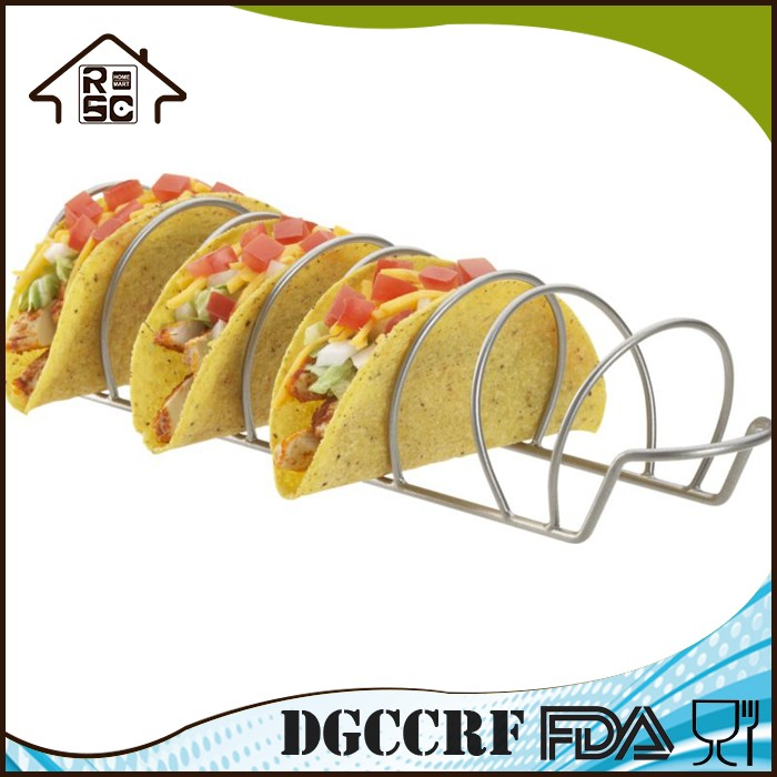 Reliable Factory Outdoor Stainless BBQ Grill Rack Taco Rack Holds