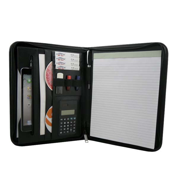 Portfolio Notepad Jotter Organizer With Calculator and Pen Holder