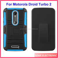 Factory price holster combo mobile phone case for Motorola Droid Turbo 2 XT1585