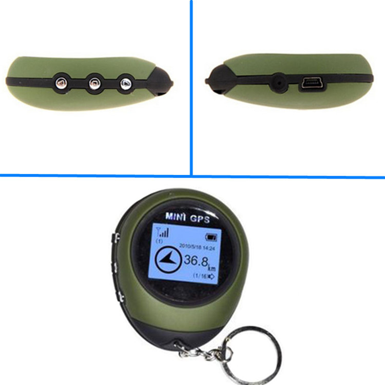 Outdoor sport portable mini gps pg03 receiver position location finder compas with keychain battery
