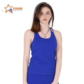 China Summer Latest design custom dri fit blank workout yoga running fitness tank top women 2017 in bulk wholesale manufacturer