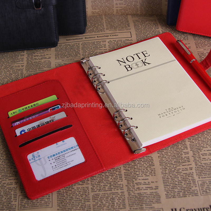 High Quality Loose Leaf Binding Paper Notebook/Multi-function PU Cover Notebook