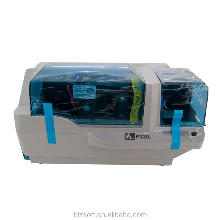 Bizsoft Zebra P330i 300dpi Single Side plastic id card printer