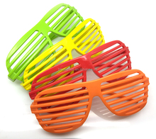 Novelty Plastic Shutter Shade Glasses
