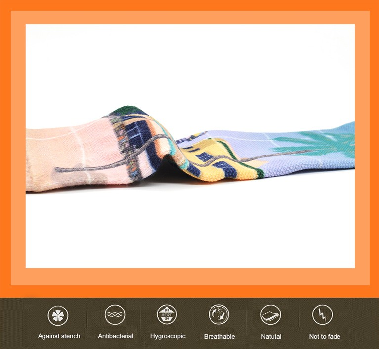 custom 3D digital sublimation screen printed blank functional compression socks