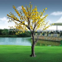 LED artificial yellow cherry flowers tree with LED light