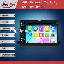 "huifei 7"" car Dvd with gps navigation for 2006-2009 Ford Fusion 4-door Sedan ,support 3G model and BT phonebook"