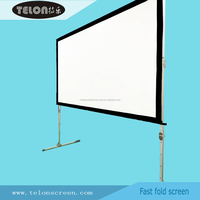"TELON 300""16:9 4:3 Front and Rear PVC Projector Screen/ Fast/Quick Fold Screen/ Folding-frame Screen China manufacturer"