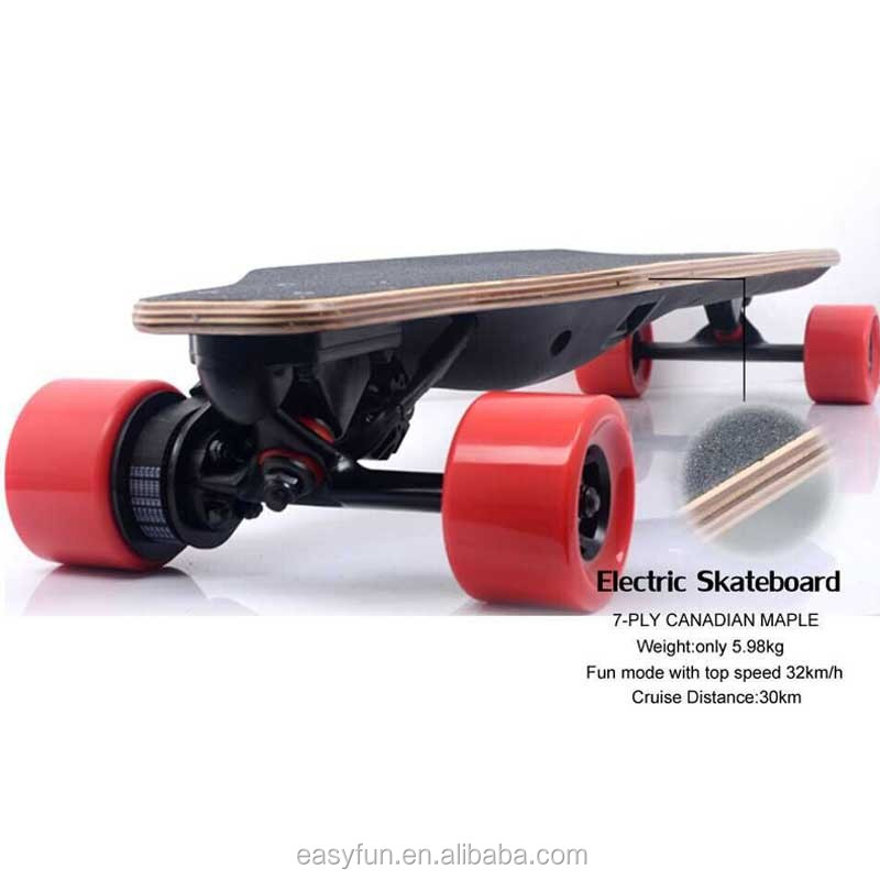 High speed DIY custom electric skateboard 1200w Remote control electric longboard