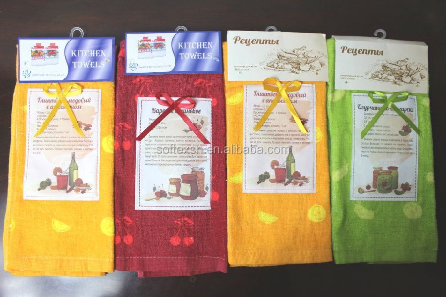 Wholesale 100% cotton custom screen printed kitchen towel /kitchen dish cloth