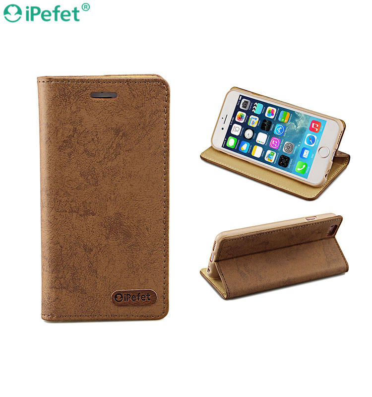 Luxury Ultra Thin Flip Leather Stand Case For iPhone 6 With Wallet