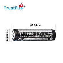 Trustfire factory wholesale rechargeble battery for bicycle light 18650 rechargeable