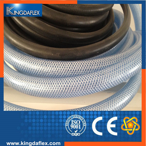 "Non-Toxic Fiber Braided Drinking Water Hose Tubing Use Food Grade Soft 1/2"" Fiber Braided PVC Clear Water Hose"