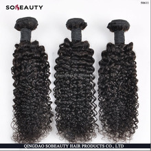 Bulk buy from China Good Feedback 100 Human Hair Full Cuticle three rollers candy curl texture cheap vrigin hair