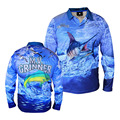 Quick Dry 3D Sublimated Fishing Shirt Outdoors Sportwear, Customized UPF 50 Fishing Print Shirt