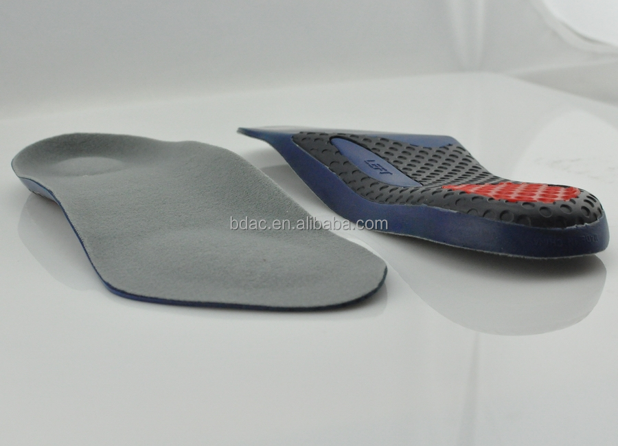 3/4 length half pu foam foot support insole foot support