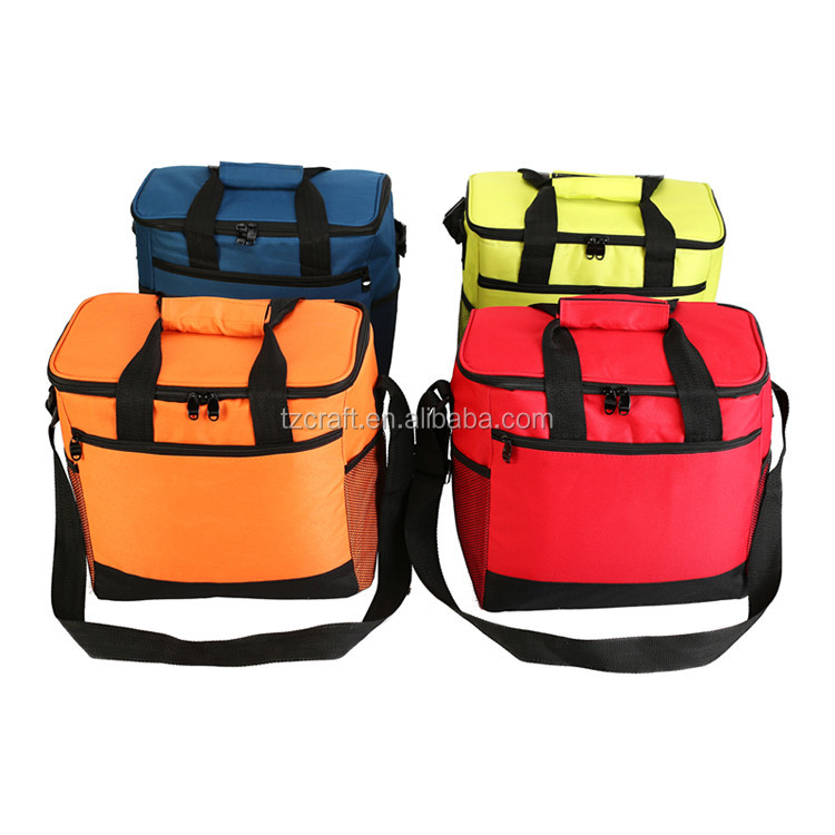 Outdoor insulated picnic collapsible grocery cooler bag for camping