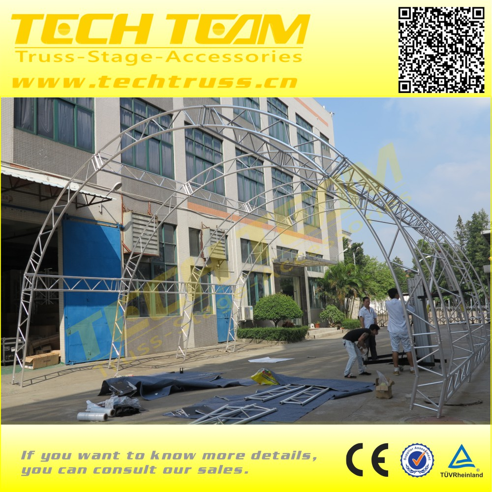 High Quality Aluminum Curve Roof Truss PVC Truss Roofing