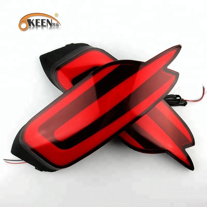 KEEN for Civic 2017 12V 8W guide led rear tail lamp car brake warning bumper reflector lights