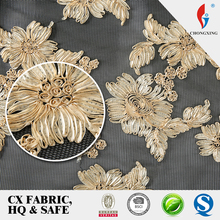 guangzhou garment accessories factory direct sale african embroidery lace fabric