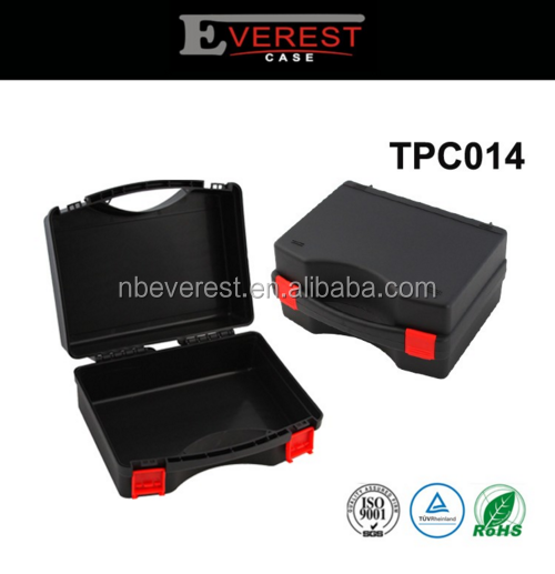 watertight plastic hard equipment case with lid