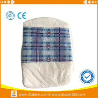 Adult Pamper Diaper with PE Film Back Sheet At economic price