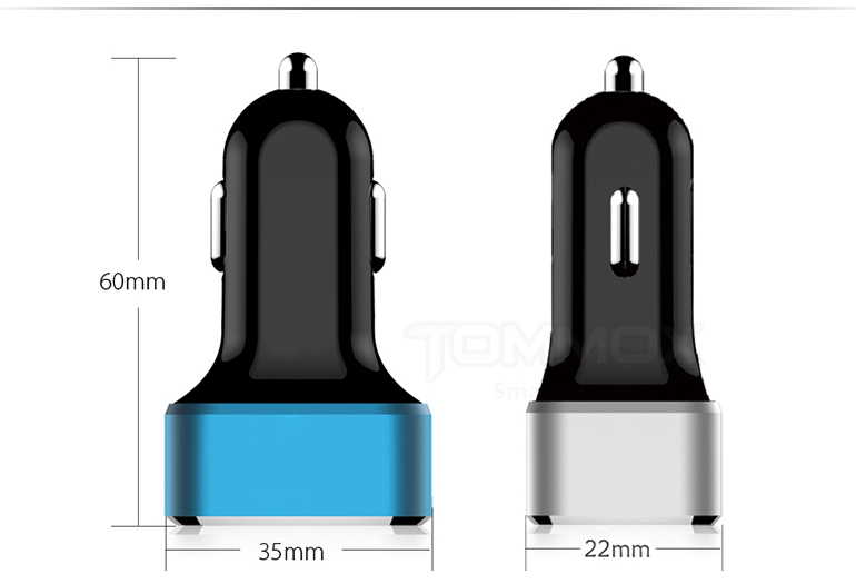 12V-18V DC 2.4A multi USB charger, Tommox smart usb car charger