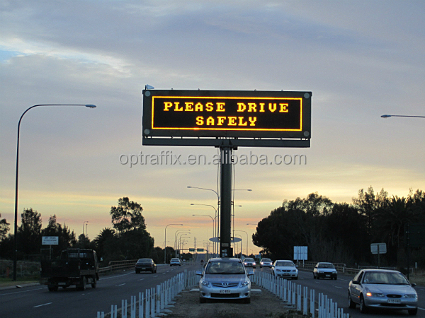 Fixed Variable Speed Limit Electronic Message Centers Traffic Signs P10 LED Board, LED Display Screen