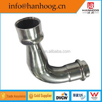 Stainless steel 90 deg reducing elbow threaded for pipeline