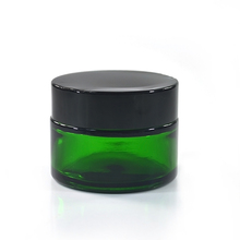 Cosmetic containers empty 30g 50g clear amber green blue glass cream jar with aluminium screw cap