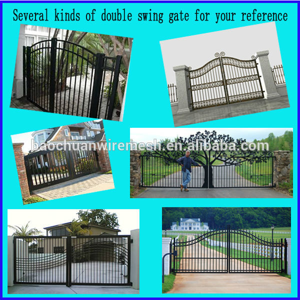 High quality beautiful iron pipe gate design from China