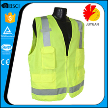High Visibility EN20471 Standard Fluorescent mesh Safety Reflective Vest Motorcycles Men's Jacket Reflective Safety Vest