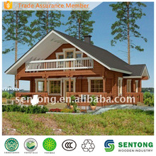 2017 New Design Two-story Prefab Wooden House STK025