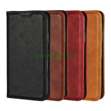Factory handmade genuine cowhide leather mobile phone case for Samsung S9