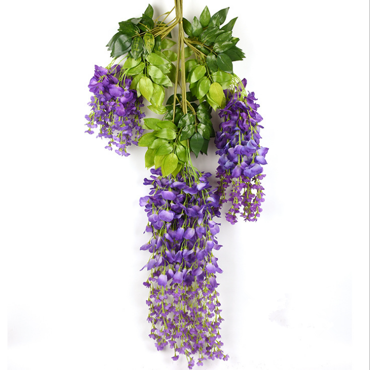Hot-selling Realistic wisteria wedding flowers artificial silk wisteria tree