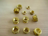 hex head brass bushing , straight reducing connector ,CNC machining pipe fittings