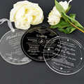 2016 Wholesale Personalised Printable Clear Acrylic Wedding Invitation Cards