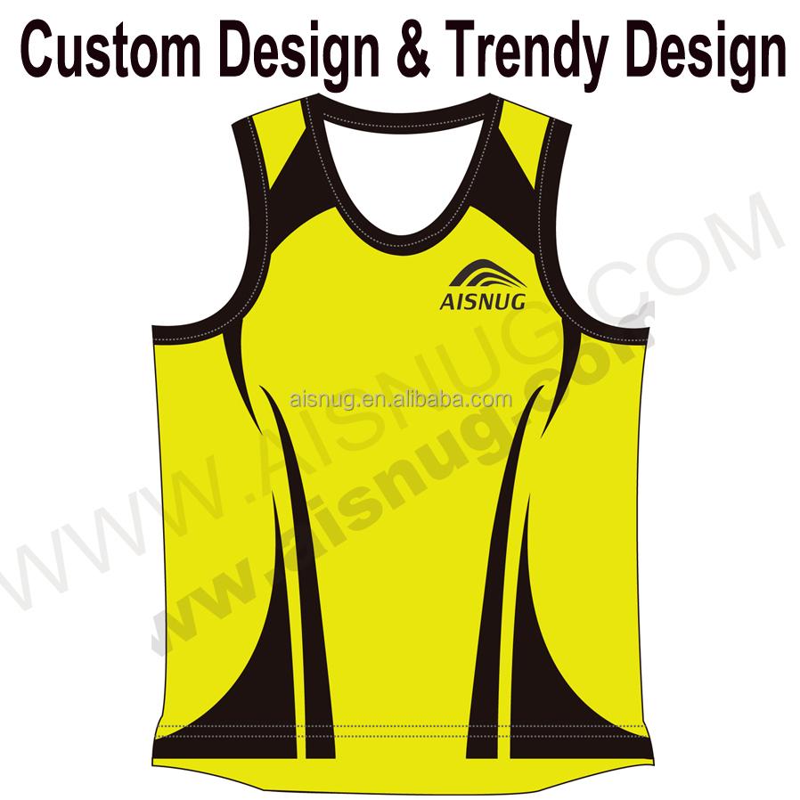 2015 Custom Running Shirts Printing Running Vest With 1 Pcs Moq