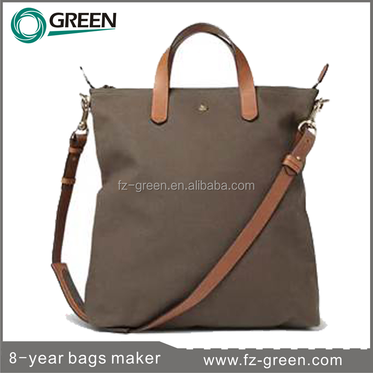 Travel canvas leather bag hot sale