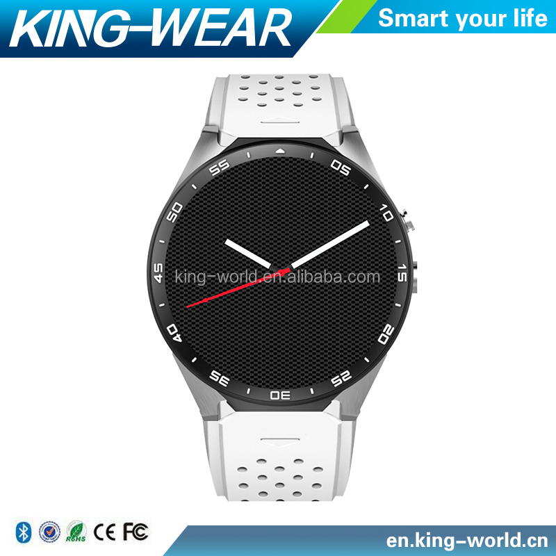 Kingwear 3G SmartWatch Android 5.1 OTA Heart Rate Monitor Pedometer GPS WiFi Bluetooth 4.0 Phone Smart Watch