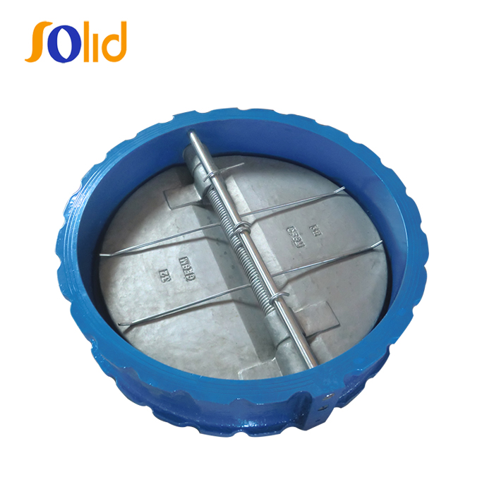 Cast Iron Dn150 Wafer Dual Plate Disc Butterfly Check Valve