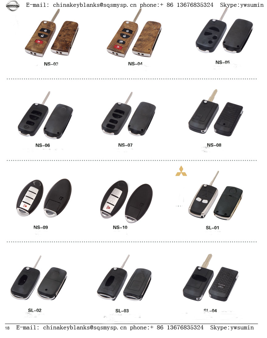BT-06 replacement Toy43 Car key 3 buttons Blank remote key shell