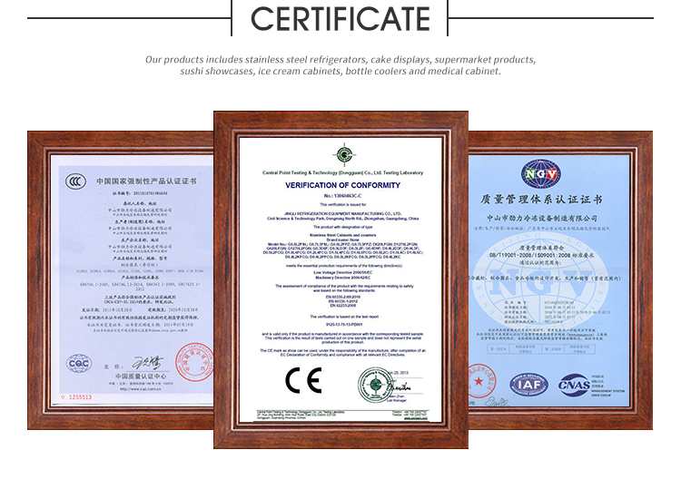 CE Certificated Supermarket open chiller, showcase